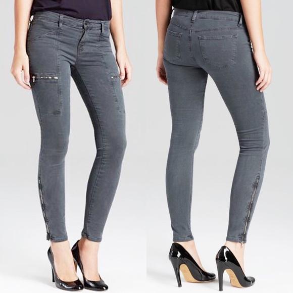 J Brand Denim - J Brand Kassidy Moto Skinny Jeans Vintage Black 32